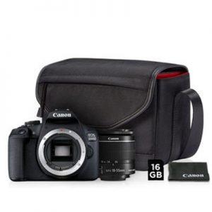 CANON EOS 2000D / 18-55MM IS II KIT M/16 GB SD KORT, TASKE og PudseKLUD